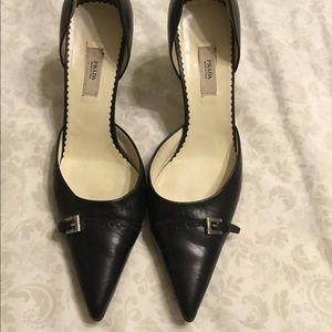 Black Prada Kitten Heel- Size 36 (6)